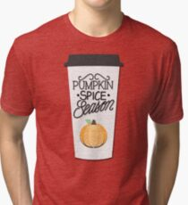 Pumpkin Spice Season Tri-blend T-Shirt