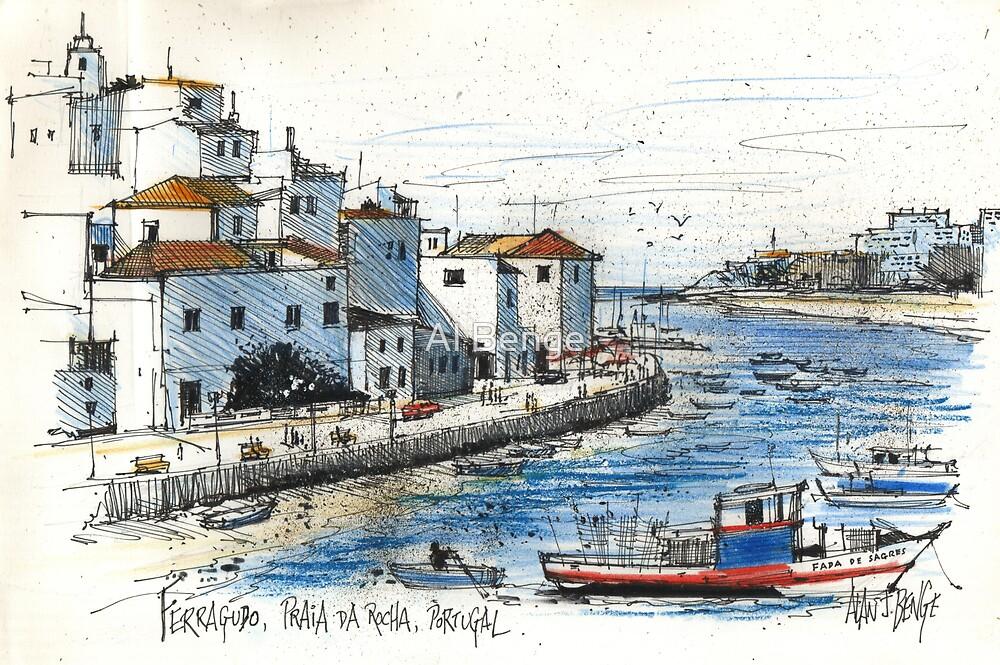 Ferragudo, Praia da Rocha, Portugal by Al Benge