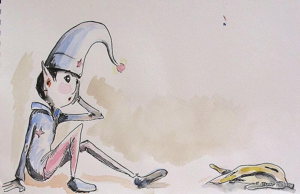 """A bit of a fall""... (Children book illustration) by Carole Felmy"