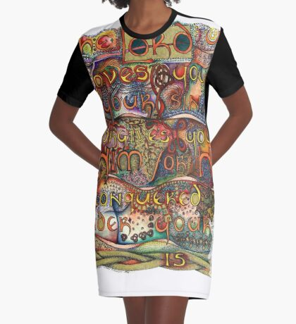A.C.T.S. Graphic T-Shirt Dress