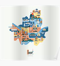 Map of Seoul Poster
