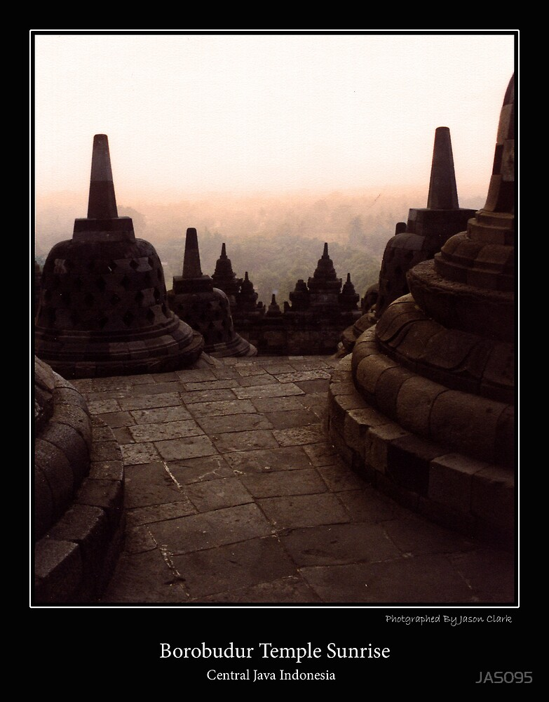 Borobudur Temple Sunrise by JAS095