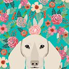 Dachshund florals flower pet portrait dog art dachsie doxie pet art dog breeds by PetFriendly by PetFriendly