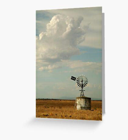 Windmill,Rural Geelong Greeting Card