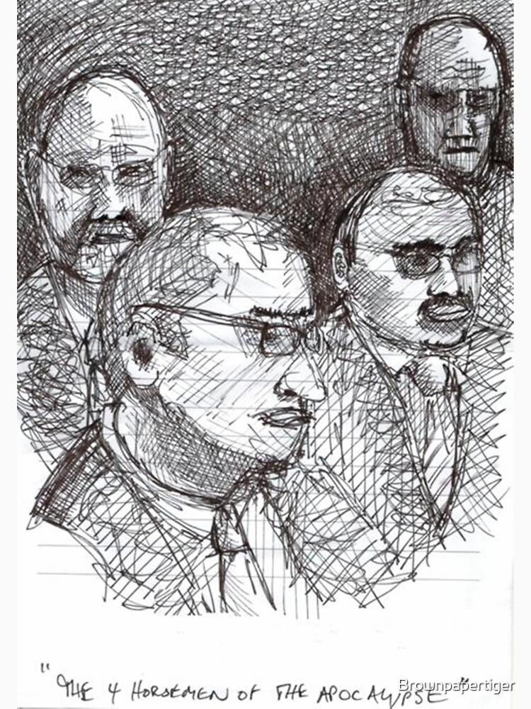 4 Horsemen of the Apocalypse by Brownpapertiger