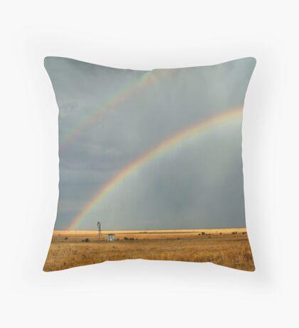 Rain and Rainbows,Rural Geelong Throw Pillow