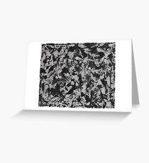 Black Ink on White Background #1 Greeting Card