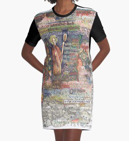 St. Aidan of Lindisfarne Graphic T-Shirt Dress