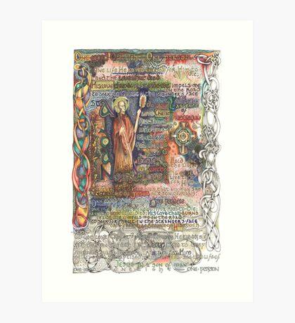 St. Aidan of Lindisfarne Art Print
