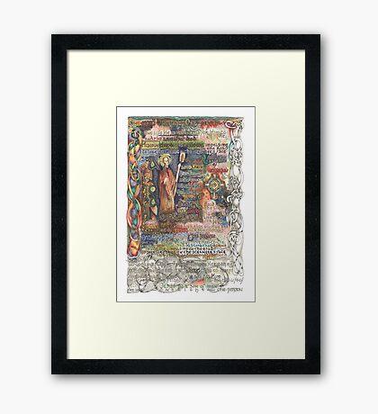 St. Aidan of Lindisfarne Framed Print
