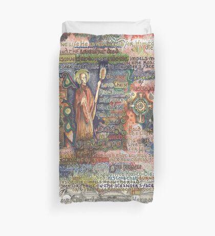 St. Aidan of Lindisfarne Duvet Cover