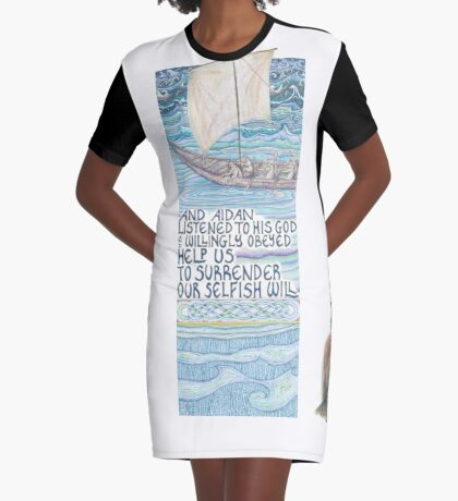 Stories of St. Aidan Graphic T-Shirt Dress