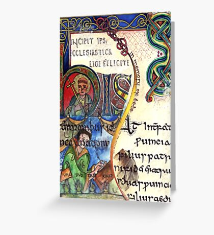 The Venerable Bede Greeting Card