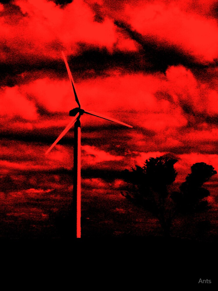 red windmills by Ants