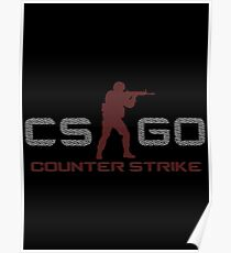 CS:GO - Red Poster