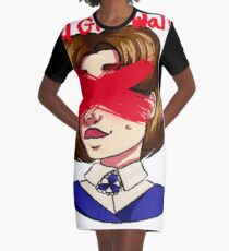 Dead Girl Walking Graphic T-Shirt Dress