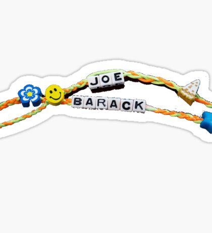 Biden and Obama Friendship Bracelets Sticker