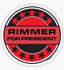 Rimmer For President Sticker