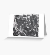 Black Ink and White Chalk on White Background Greeting Card