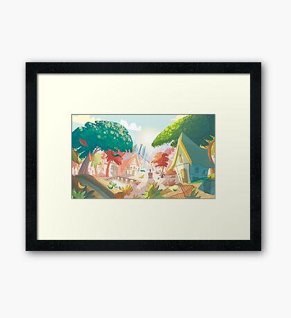 Landscape fairytale Framed Print