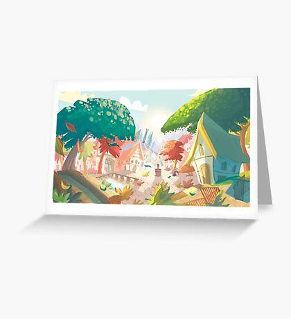 Landscape fairytale Greeting Card