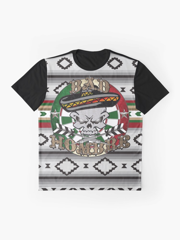 Alternate view of Bad Hombre Darts Shirt Full Color Graphic T-Shirt