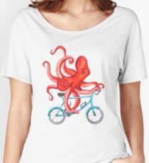 Cycling octopus T-shirts coupe relax
