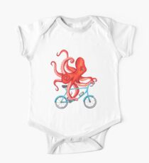 Cycling octopus One Piece - Short Sleeve