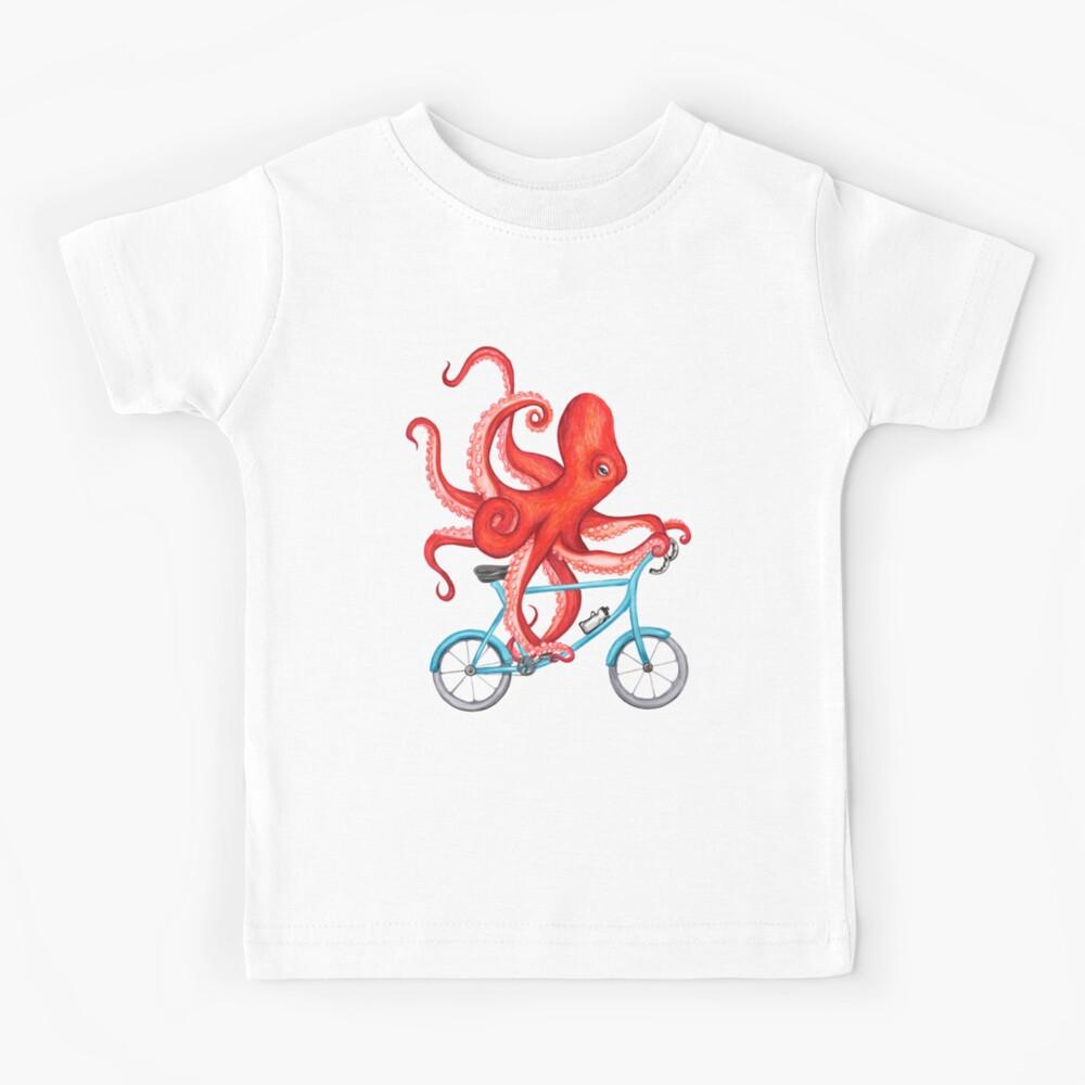 Cycling octopus Kids T-Shirt