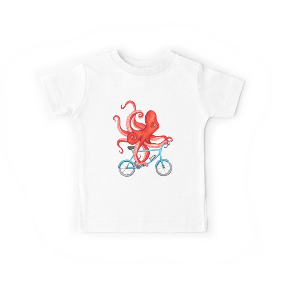 Cycling octopus by Amélie  Legault