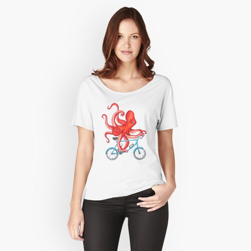 Radsport Oktopus Loose Fit T-Shirt