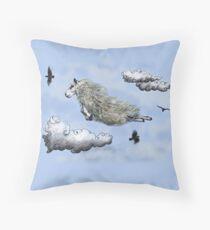 Flying sheep Throw Pillow
