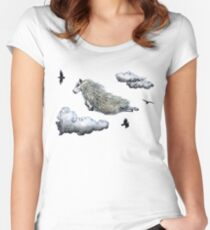 Flying sheep Women's Fitted Scoop T-Shirt