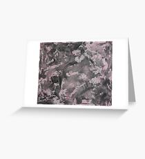 Black Ink on Pink Background Greeting Card