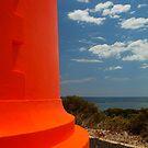 Red Lighthouse Carpenter Rocks S.A. by Joe Mortelliti