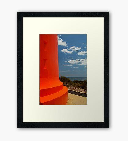 Red Lighthouse Carpenter Rocks S.A. Framed Print