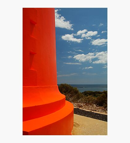 Red Lighthouse Carpenter Rocks S.A. Photographic Print