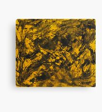 Black Ink on Yellow Background Canvas Print