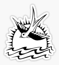 captain tattoo Sticker