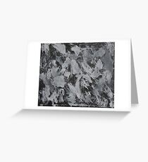 White Ink on Black Background #3 Greeting Card
