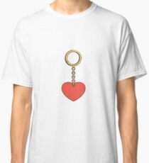 Keychain with heart Classic T-Shirt