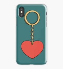 Keychain with heart iPhone Case/Skin