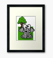 Goofy Cartoon Elephant Framed Print