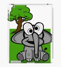 Goofy Cartoon Elephant iPad Case/Skin