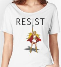 "She-Ra says ""RESIST"" Women's Relaxed Fit T-Shirt"