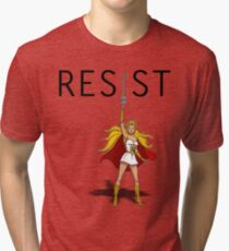 "She-Ra says ""RESIST"" Tri-blend T-Shirt"