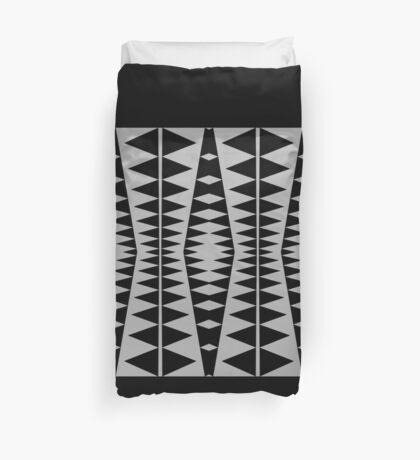 Black and Gray Modern Design by Julie Everhart Duvet Cover
