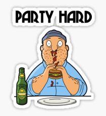 Teddy - Party Hard Sticker
