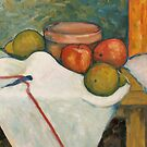 Apple & Pear Still Life by Marilyn Brown