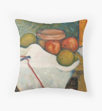 Apple & Pear Still Life Throw Pillow